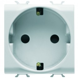 Enchufe base schuko modelo Chorus color blanco 2 modulos