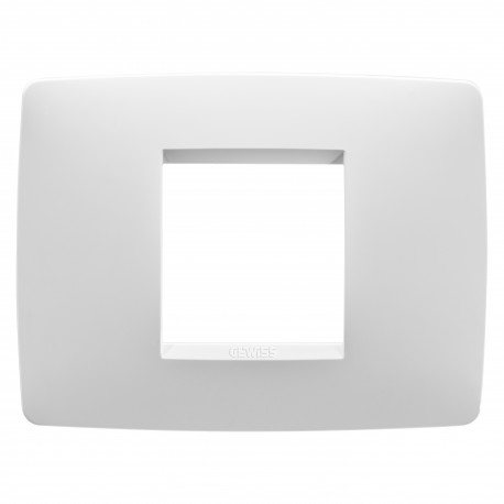 Placa modelo Chorus ONE 2 modulos color blanco