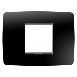 Placa modelo Chorus ONE 2 modulos color negro