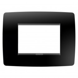 Placa modelo Chorus ONE 3 modulos color negro